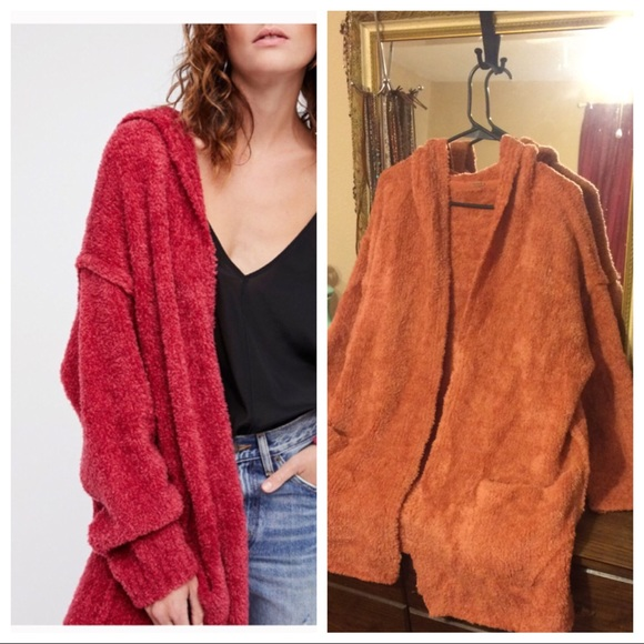a389e00035ad Free People Sweaters - Free People Chenille Half Moon Cardigan